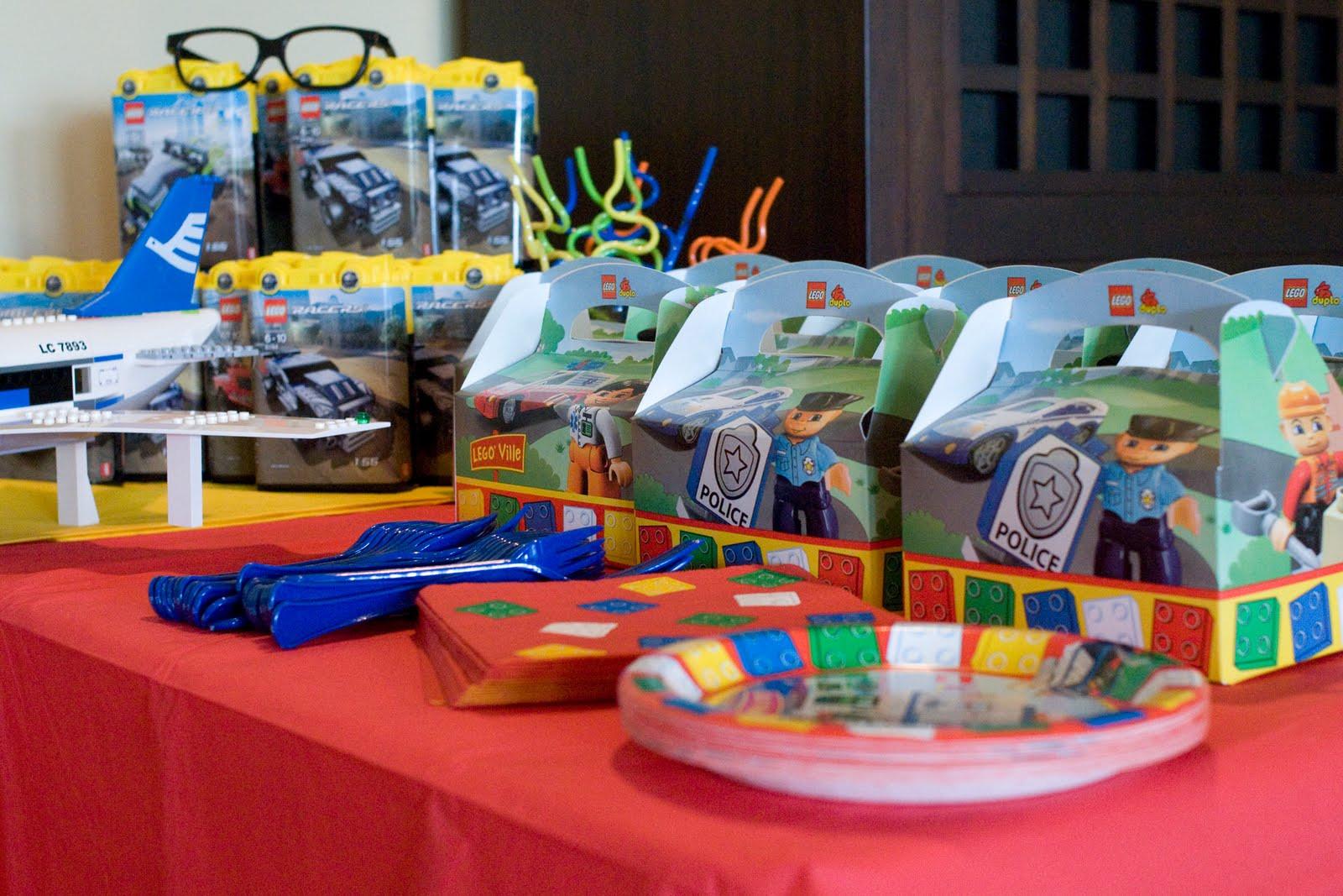 Lego Birthday Party Kit  Lego Birthday Party The Polkadot Chair