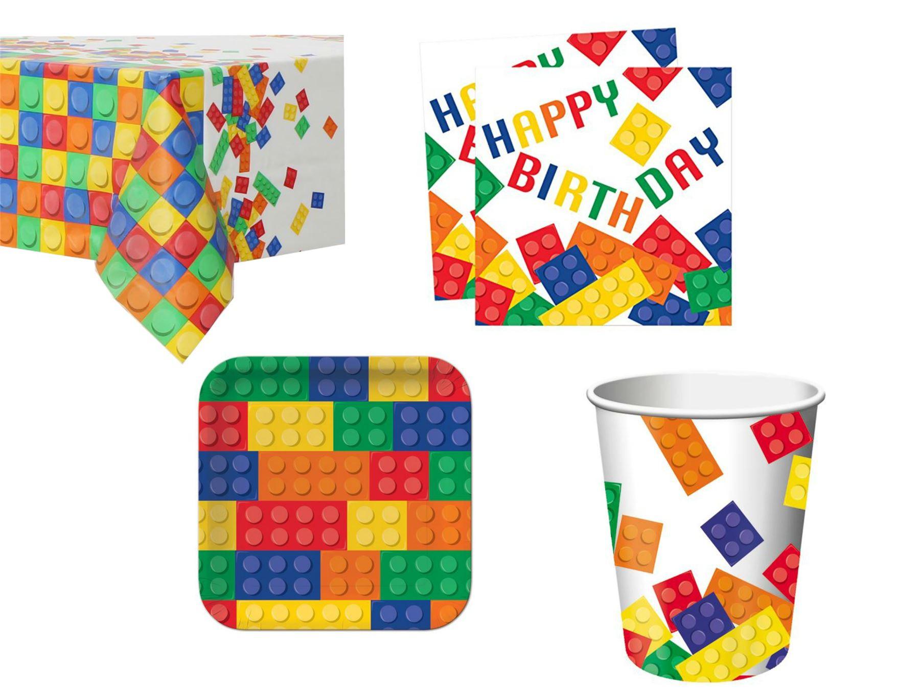 Lego Birthday Party Kit  Block Party Lego Tableware Birthday Party Kit Supplies 8