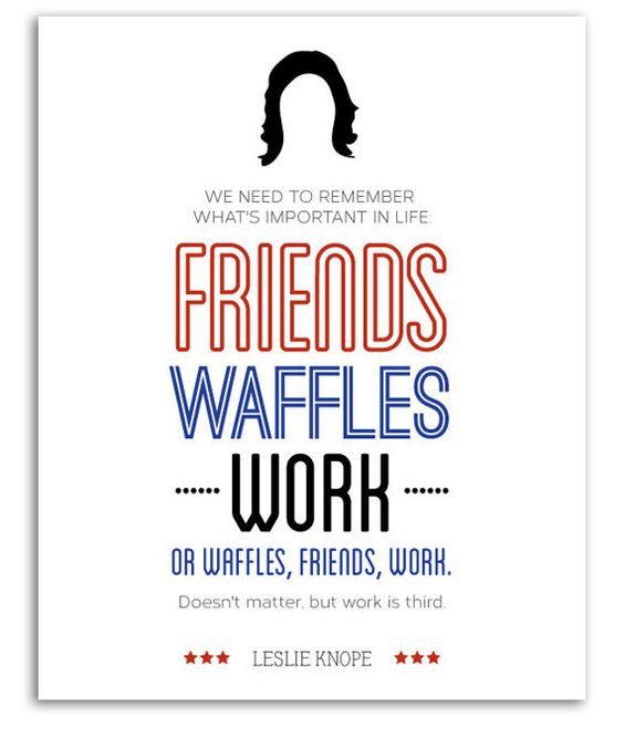 Leslie Knope Friendship Quotes  Leslie Knope Typography Print Parks and Recreation by