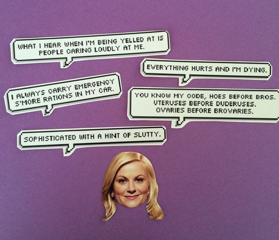 Leslie Knope Friendship Quotes  Leslie Knope Quotes Stickers $2 65 CARDS