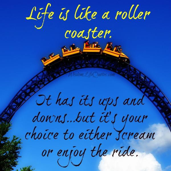 Life Is Like A Rollercoaster Quote  Life is too short to worry about stupid things – Wisdom