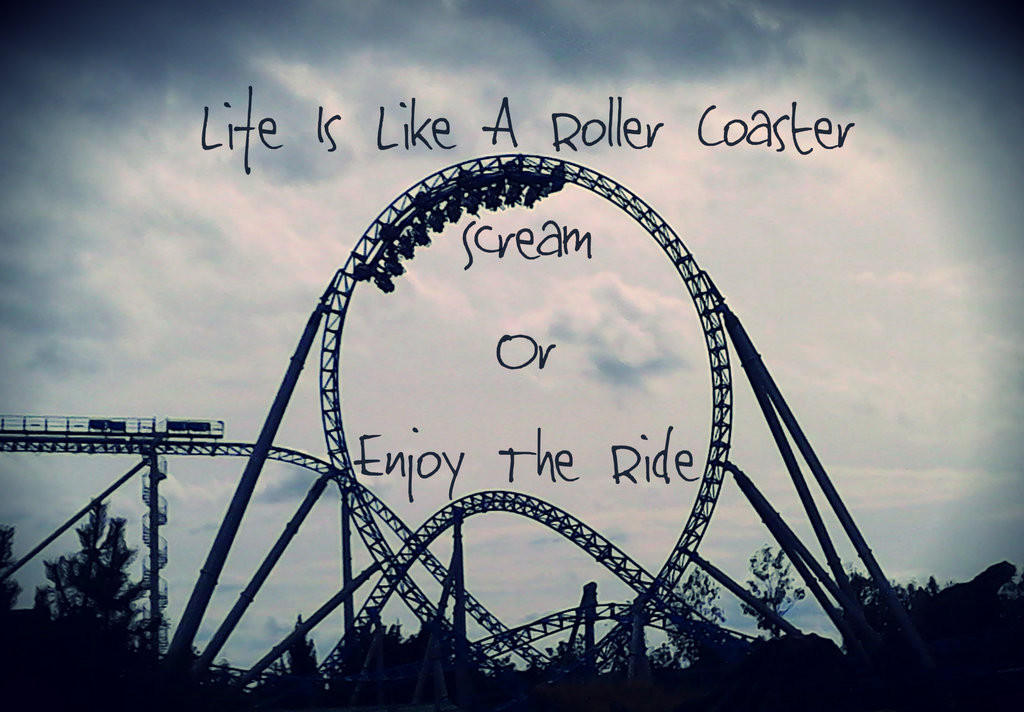 Life Is Like A Rollercoaster Quote  Life Is A Roller Coaster Quotes QuotesGram