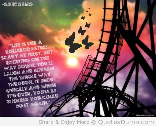 Life Is Like A Rollercoaster Quote  Life – A precious t
