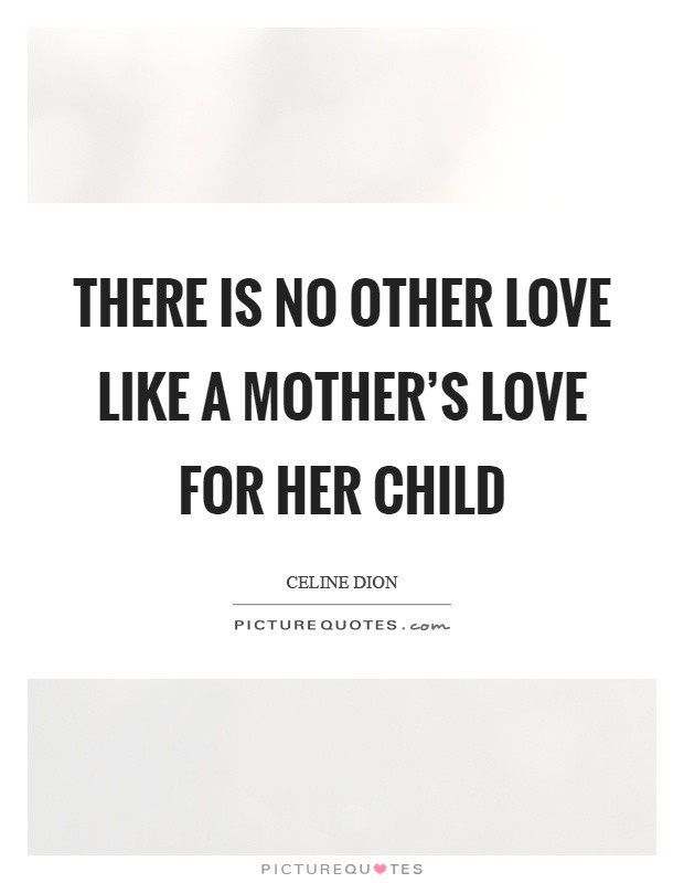 Like A Mother Quotes  There is no other love like a mother s love for her child