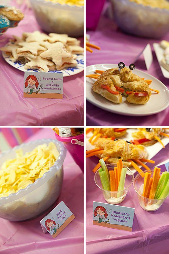 Little Mermaid Birthday Party Food Ideas  Best 25 Ariel party food ideas on Pinterest