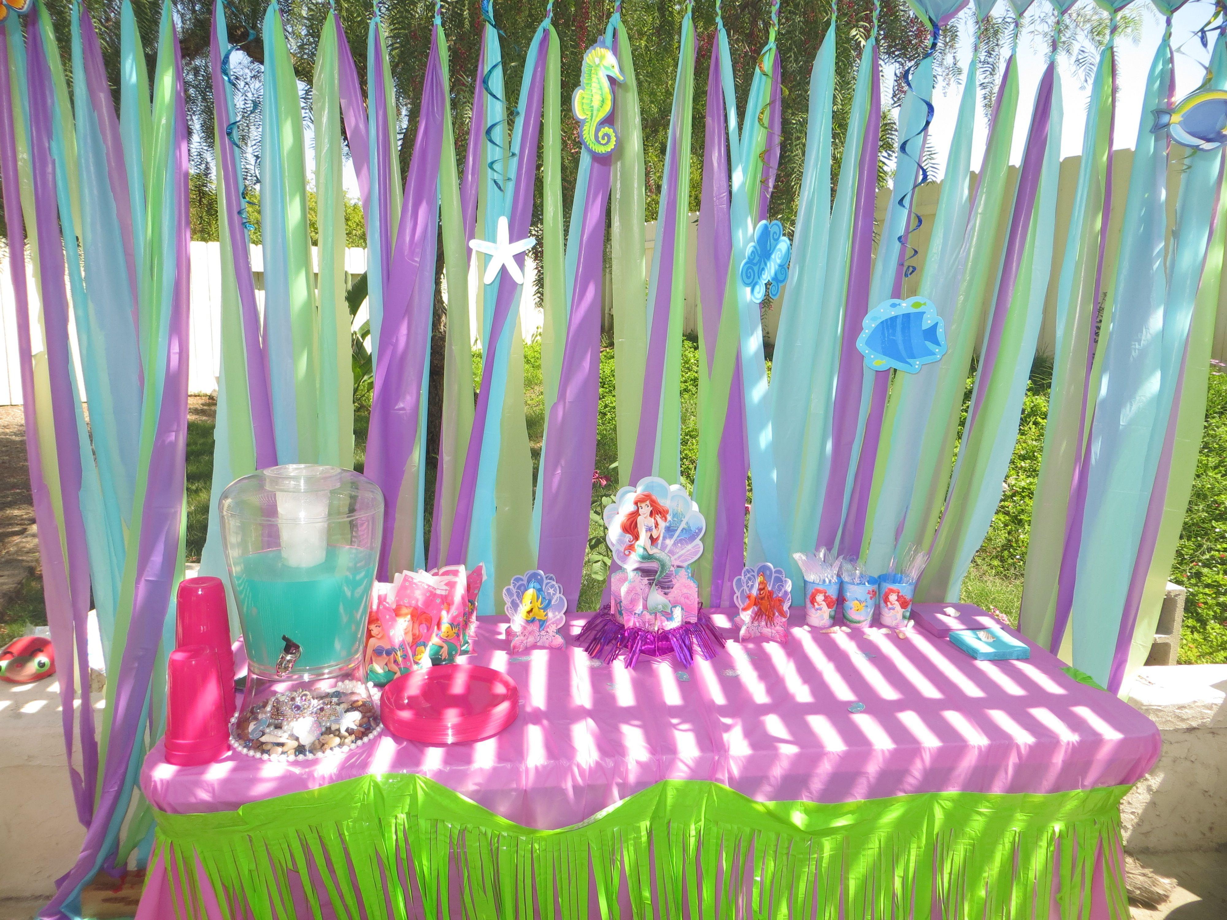 Little Mermaid Party Decoration Ideas  Arianna s 3rd birthday party decorations The little