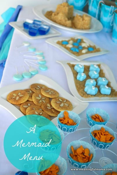 Little Mermaid Party Snack Ideas  Mermaid Party Food Ideas