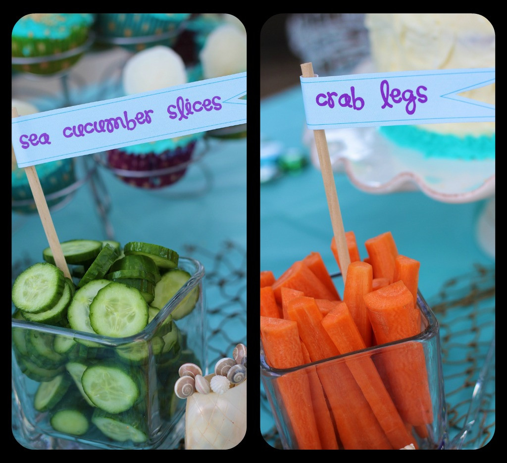 Little Mermaid Party Snack Ideas  Mermaid Party Ideas Design Dazzle