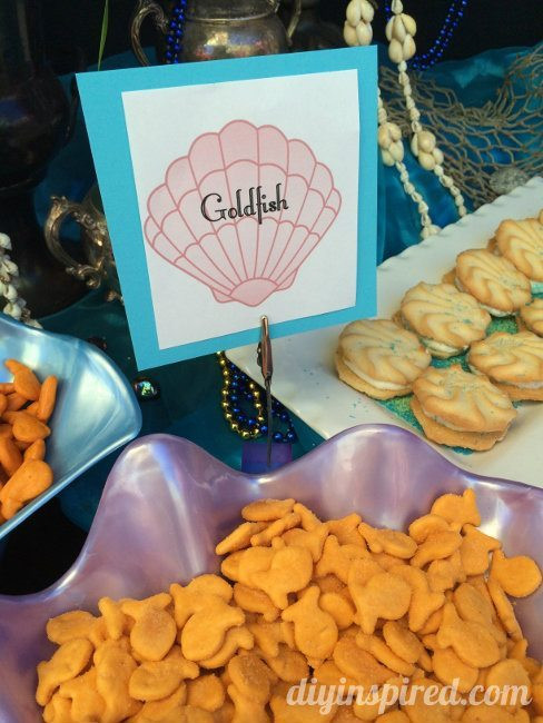 Little Mermaid Party Snack Ideas  The Little Mermaid Party Ideas DIY Inspired