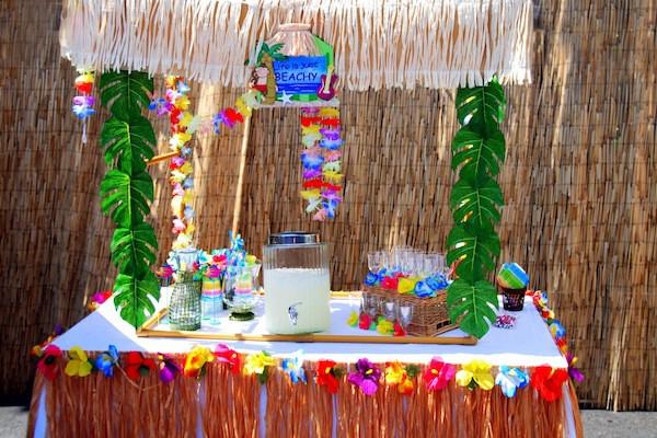 Luau Pool Party Ideas  Kara s Party Ideas Luau Beach Surf Swim Pool party idea