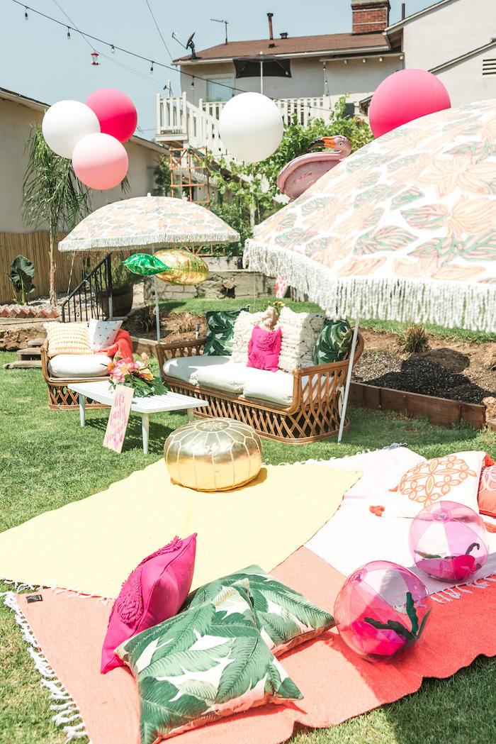 Luau Pool Party Ideas  Kara s Party Ideas Tropical Birthday Party