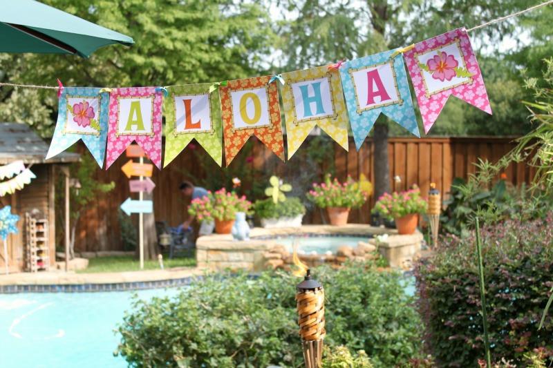 Luau Pool Party Ideas  Luau Birthday Party