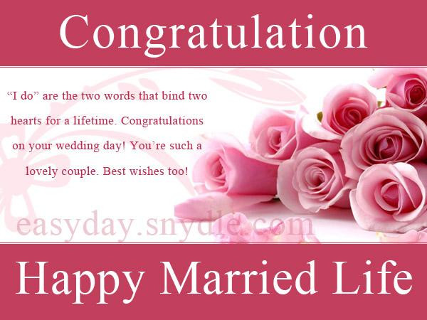 Marriage Congratulations Quotes  Top Wedding Wishes And Messages Easyday