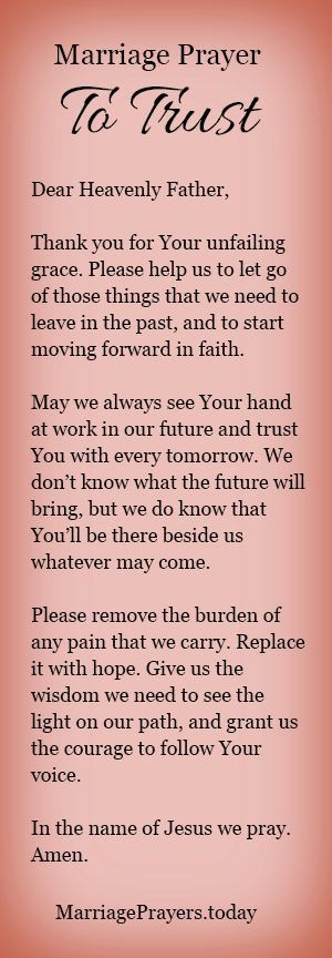 Marriage Prayer Quotes  A marriage prayer to trust God with your future