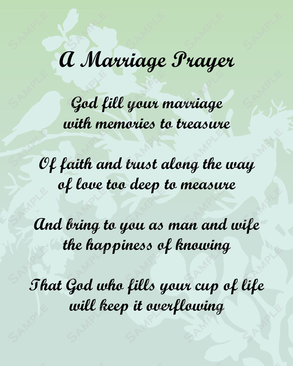 Marriage Prayer Quotes  Items similar to A Marriage Prayer Poem Love Poem for