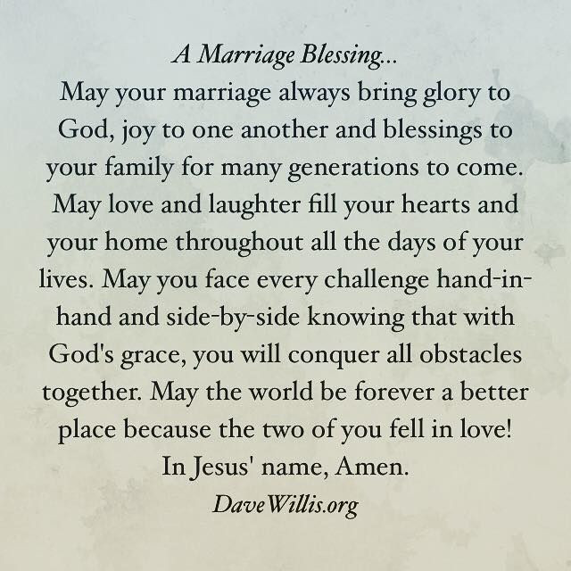 Marriage Prayer Quotes  A Marriage Blessing wedding