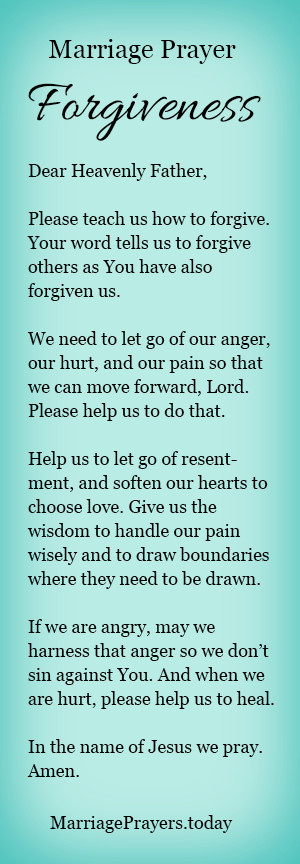 Marriage Prayer Quotes  A marriage prayer to help us forgive Prayer
