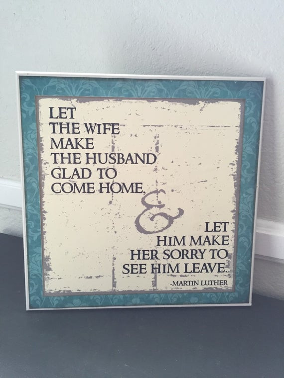 Martin Luther Marriage Quote  Marriage Quote by Martin Luther wooden sign NEW by bethborder