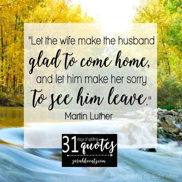Martin Luther Marriage Quote  Martin Luther on Marriage 7 quotes in 7 days Sarah Koontz