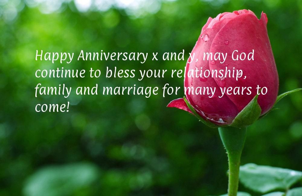 May God Bless Your Marriage Quotes  Happy Anniversary x and y may God continue to bless your