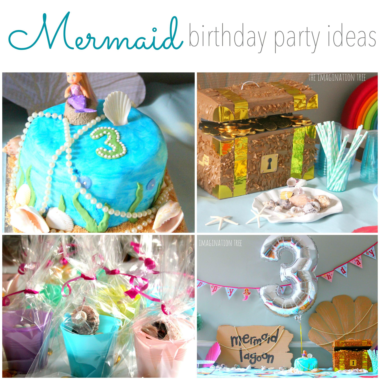 Mermaid Birthday Party Decoration Ideas  Mermaid Birthday Party Ideas The Imagination Tree