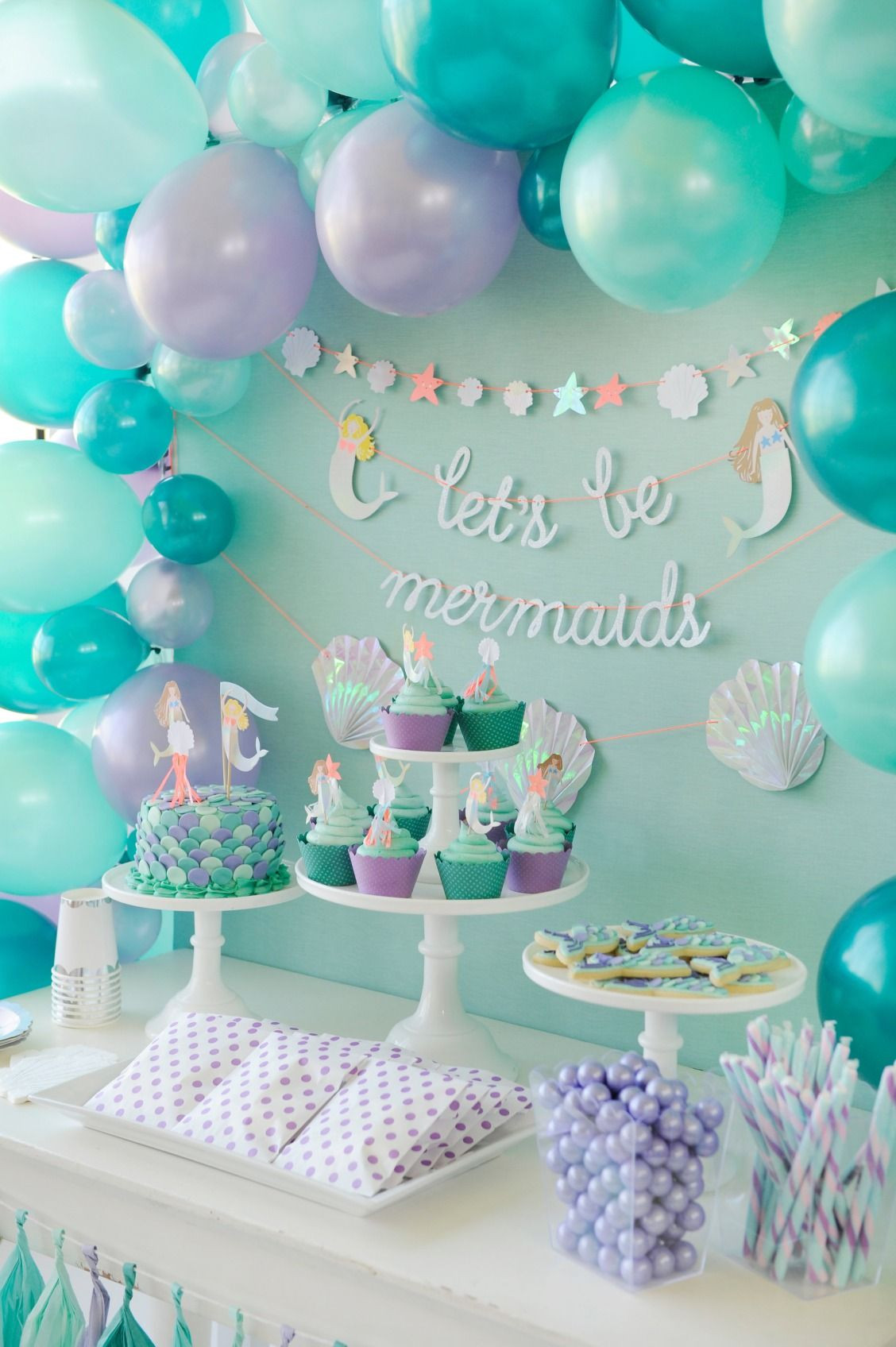 Mermaid Birthday Party Decoration Ideas  Single Post Children s Birthday Party