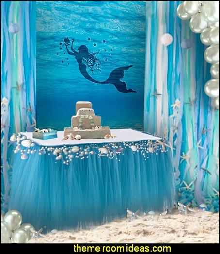 Mermaid Birthday Party Decoration Ideas  Decorating theme bedrooms Maries Manor mermaid party
