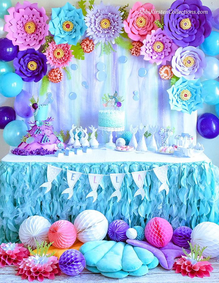 Mermaid Birthday Party Decoration Ideas  Mermaid Party Ideas DIY Birthday W Freebies Press