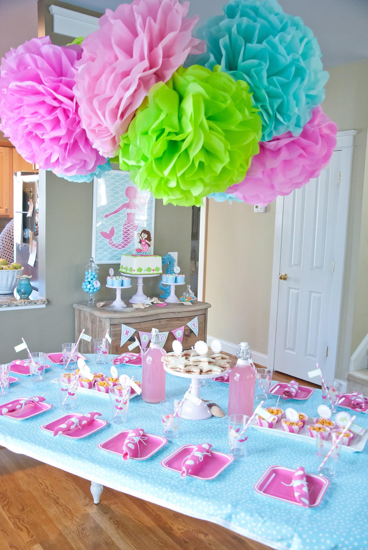 Mermaid Birthday Party Decoration Ideas  A Dreamy Mermaid Birthday Party Anders Ruff Custom