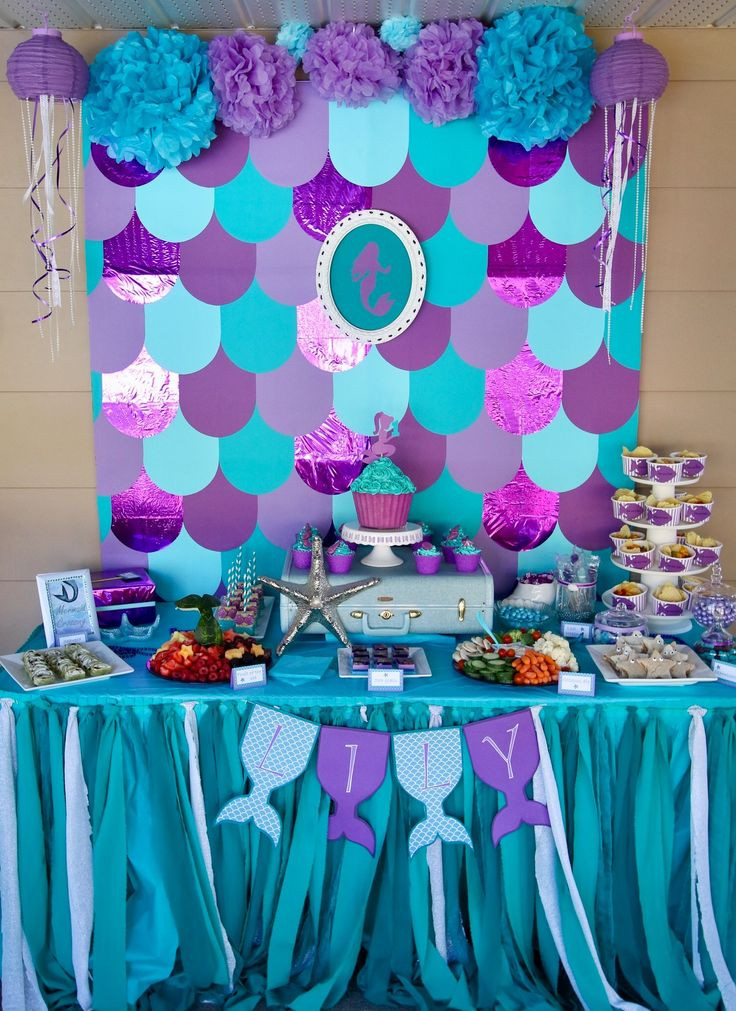Mermaid Birthday Party Decoration Ideas  Best 20 Ariel party food ideas on Pinterest