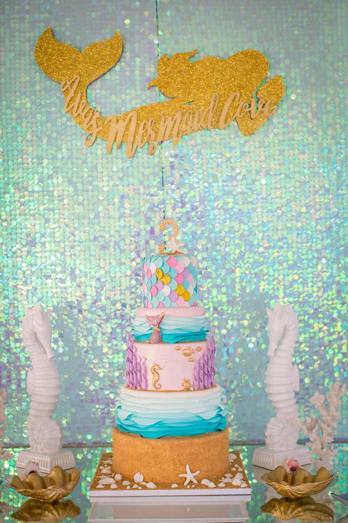 Mermaid Birthday Party Decoration Ideas  Kara s Party Ideas Mermaid Cove Birthday Party