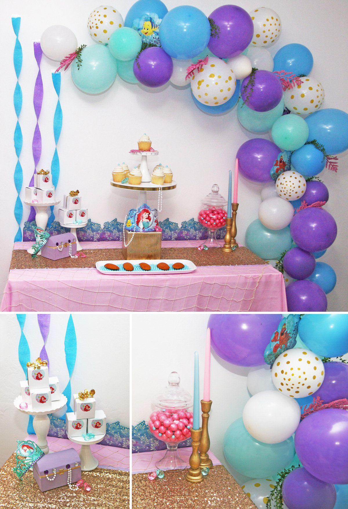 Mermaid Birthday Party Decoration Ideas  Little Mermaid Party Ideas