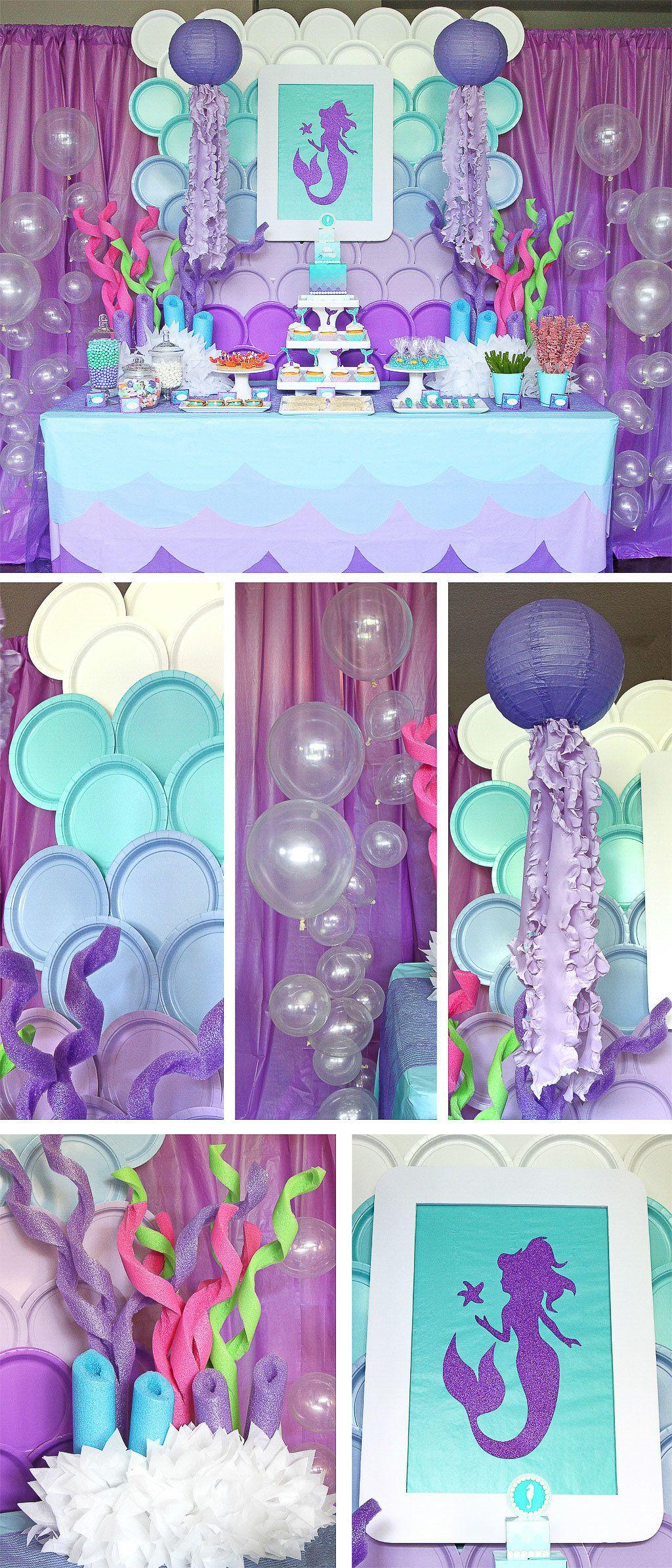 Mermaid Birthday Party Decoration Ideas  Mermaid Party Ideas