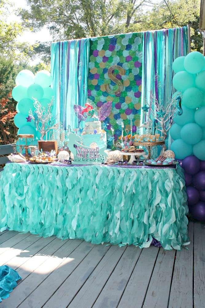 Mermaid Birthday Party Decoration Ideas  Mermaids Ariel pirates Birthday Party Ideas