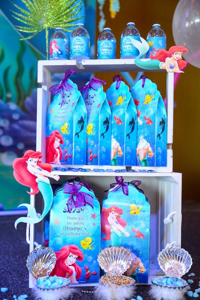 Mermaid Birthday Party Favor Ideas  Kara s Party Ideas Ariel the Little Mermaid Birthday Party