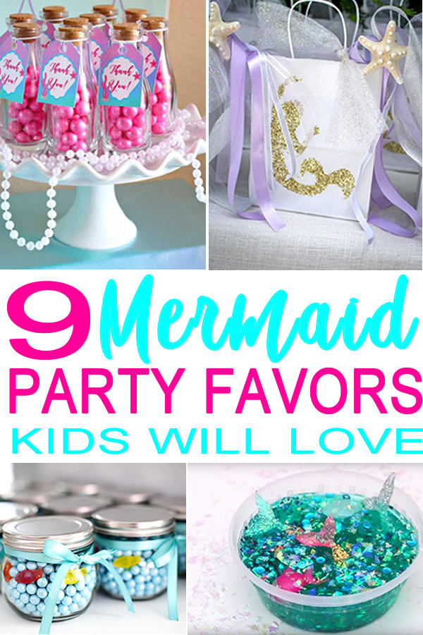 Mermaid Birthday Party Favor Ideas  Mermaid Party Favor Ideas