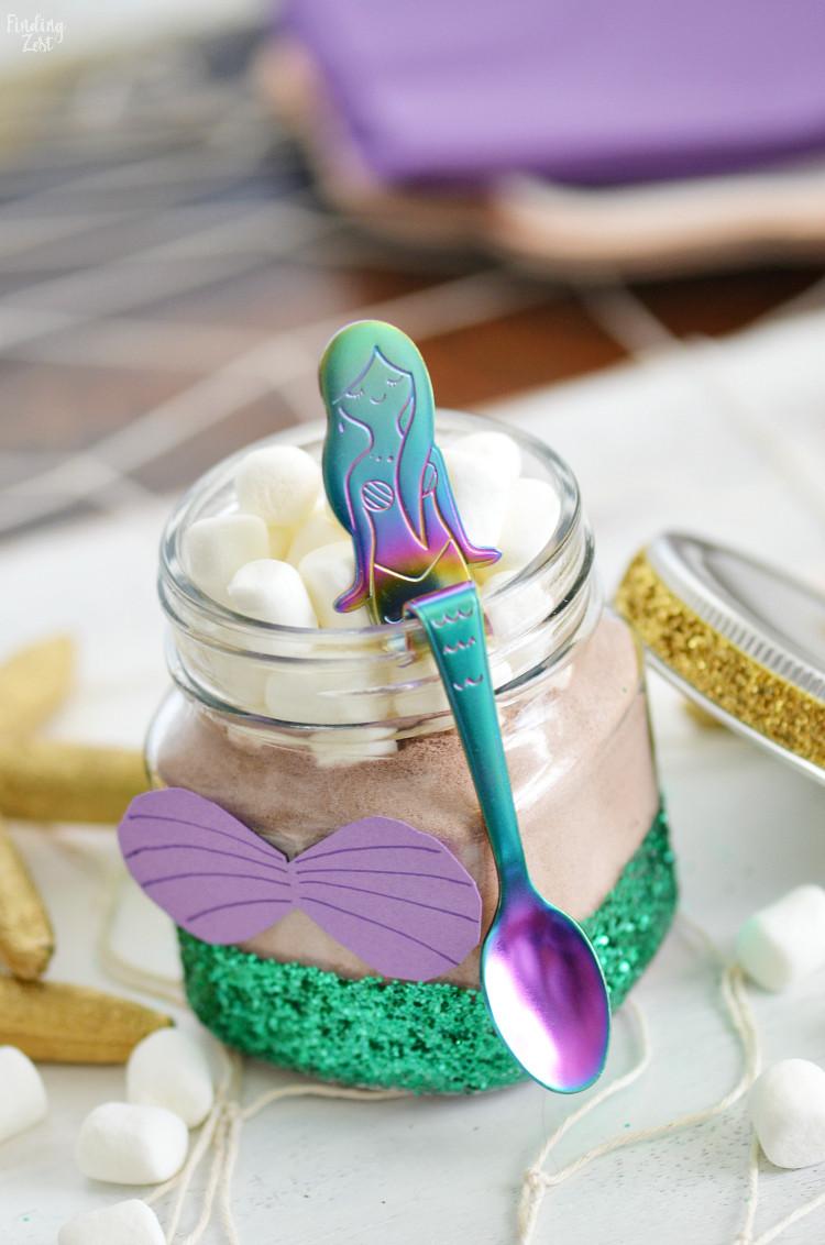 Mermaid Birthday Party Favor Ideas  Little Mermaid Party Favors DIY Glitter Jar Finding Zest