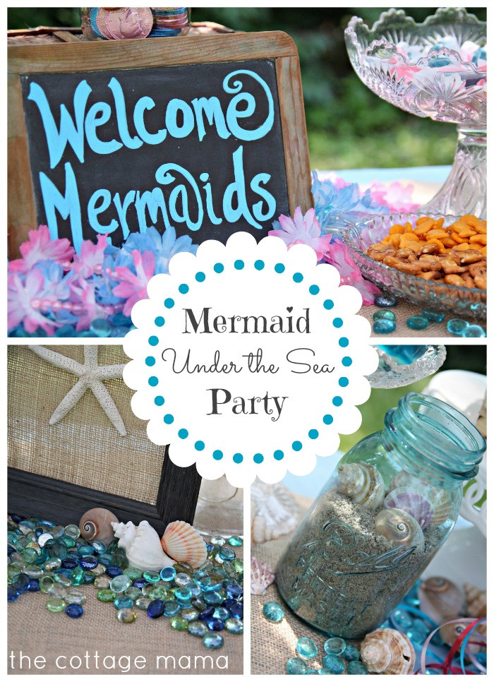 Mermaid Party Decor Ideas  Mermaid Under the Sea 4th Birthday Party with Free