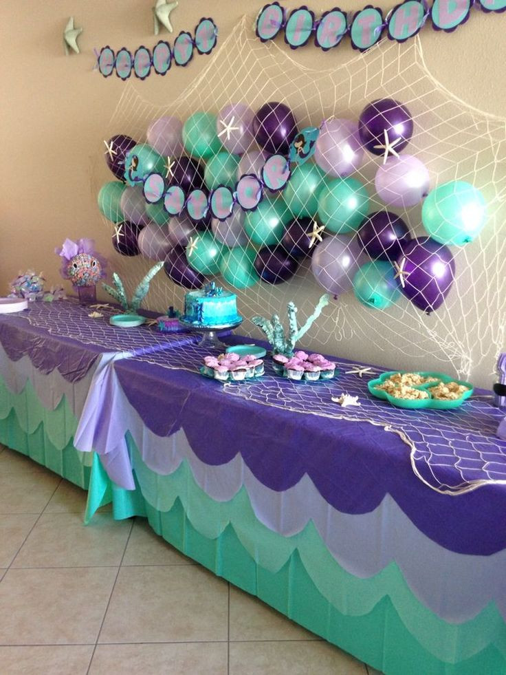 Mermaid Party Decor Ideas  Best 25 Mermaid party decorations ideas on Pinterest