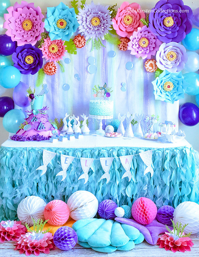 Mermaid Party Decor Ideas  Mermaid Party Ideas DIY Birthday W Freebies Press