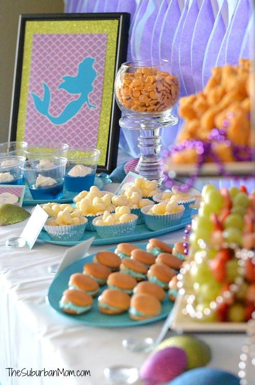 Mermaid Party Ideas Food  The Little Mermaid Ariel Birthday Party Ideas Food