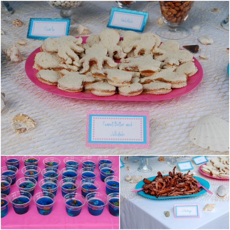 Mermaid Party Ideas Food  REAL PARTY Mermaids & Scuba Divers Frog Prince Paperie