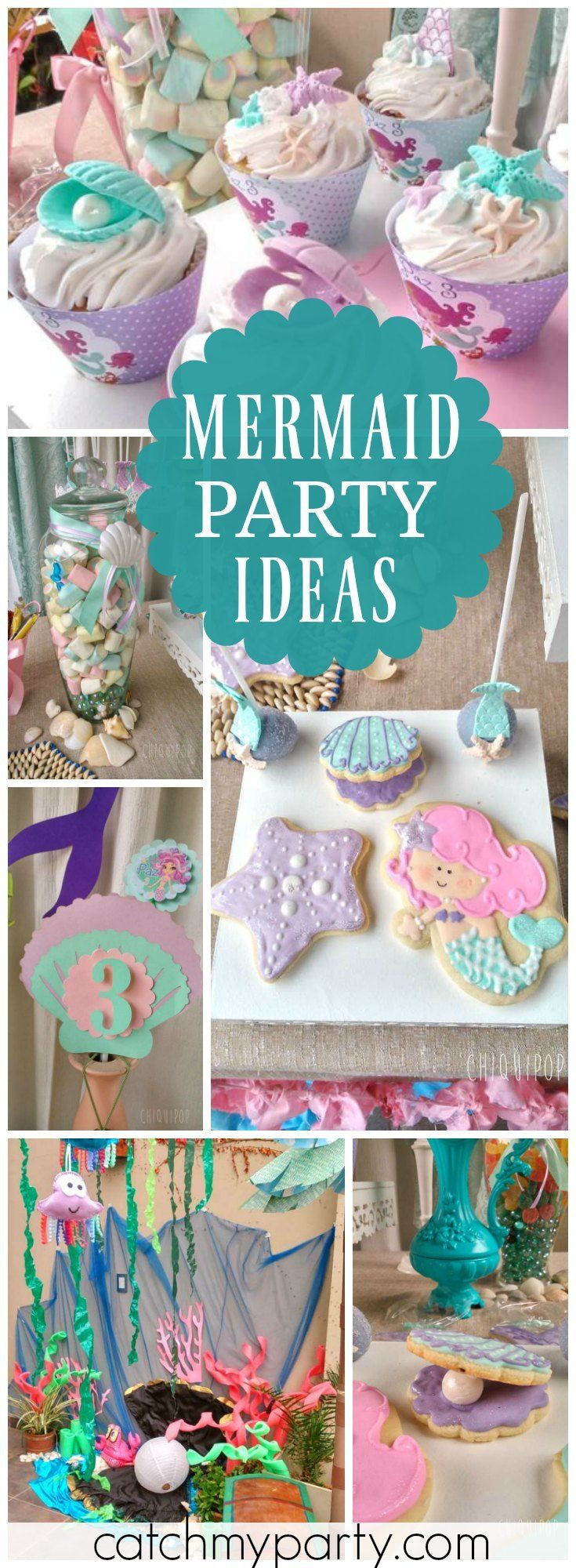 Mermaid Party Ideas Pinterest  1000 images about Mermaid Party Ideas on Pinterest