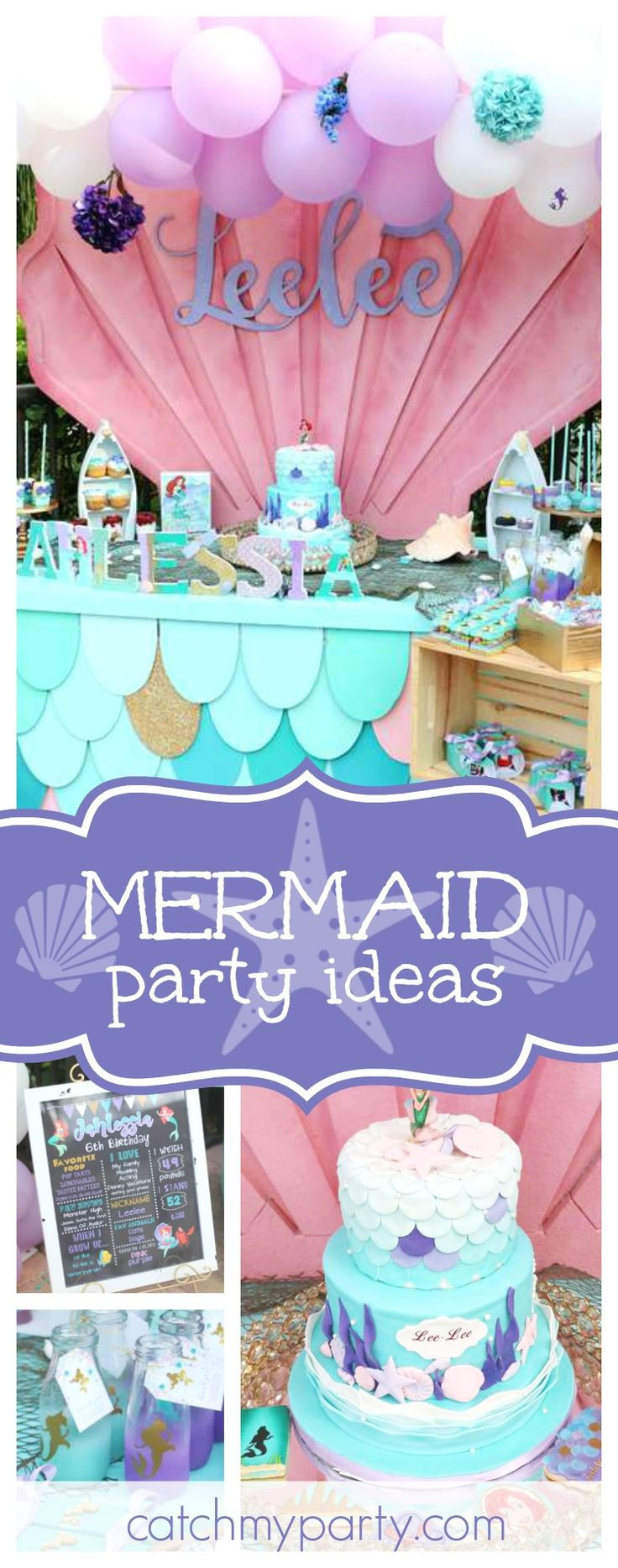 Mermaid Party Ideas Pinterest  3929 best Mermaid Party images on Pinterest