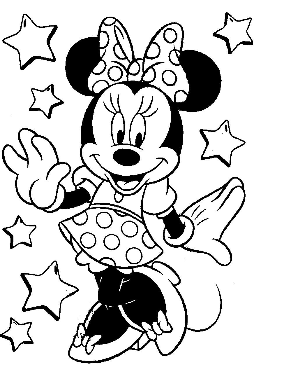 Mickey Mouse Coloring Pages Toddler  coloring pictures of minnie mouse Google Search