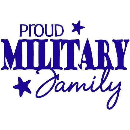 Military Family Quotes  PROUD MILITARY FAMILY Wall Decal Quote Words Lettering