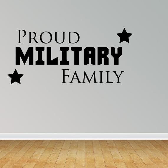 Military Family Quotes  Items similar to Wall Decal Proud Military Family