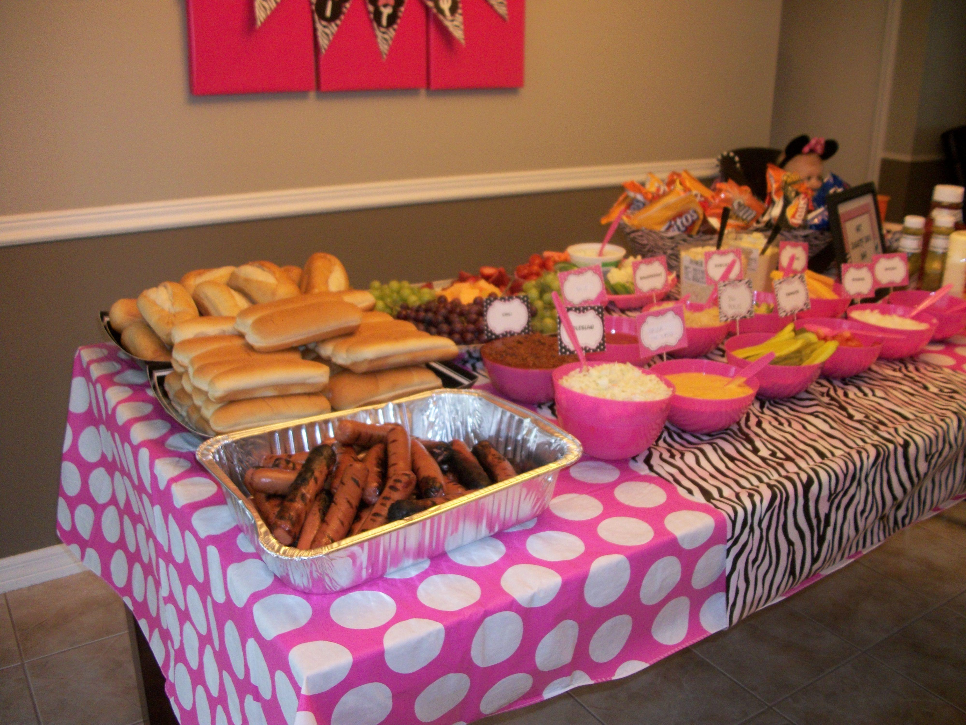 Minnie Mouse Backyard Party Ideas  Minnie Mouse Zebra Theme Hot Diggity Dog Bar
