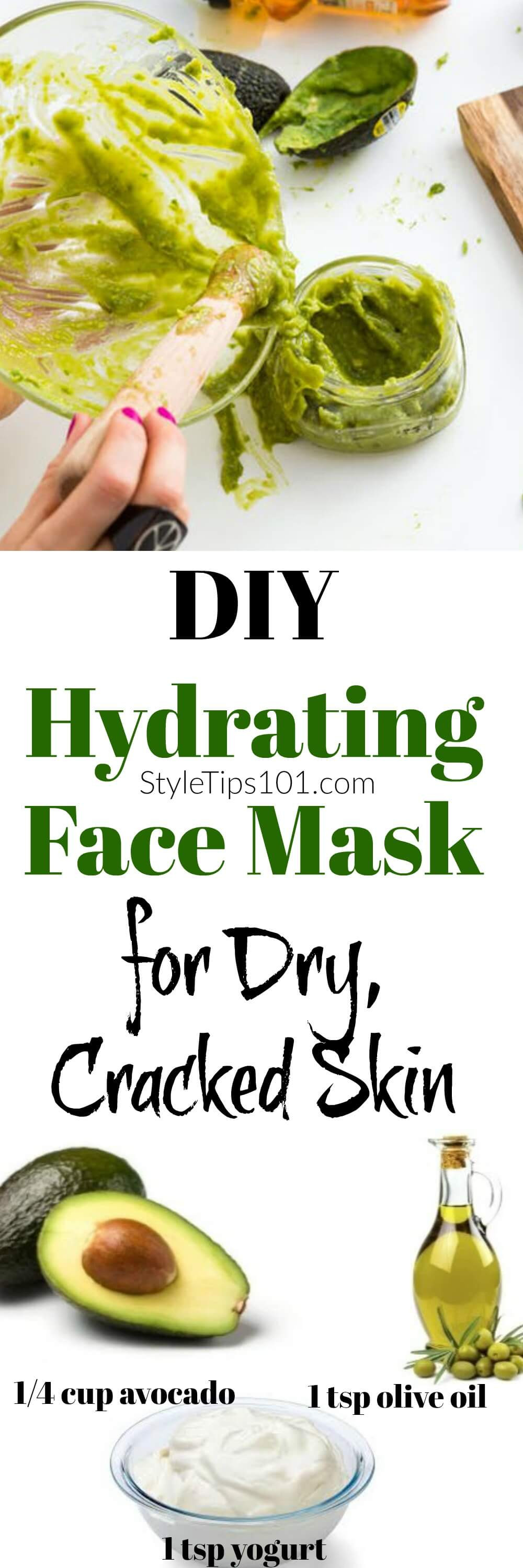 Moisturizing Face Mask DIY  DIY Hydrating Face Mask With Avocado & Yogurt