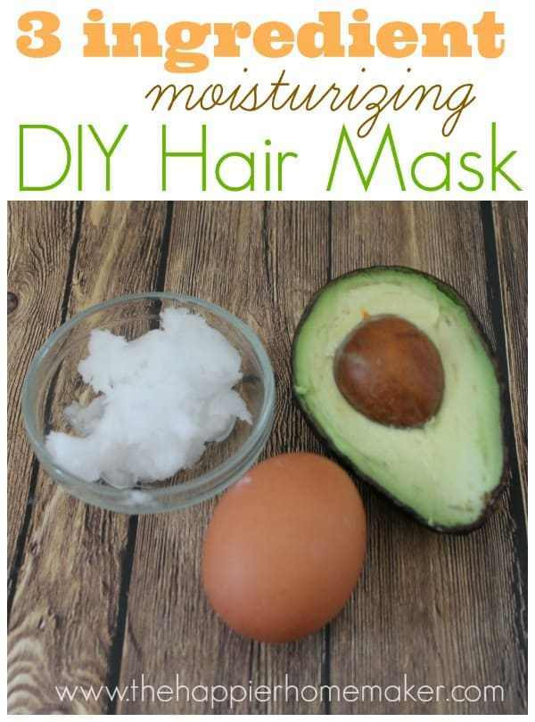 Moisturizing Face Mask DIY  Easy DIY Moisturizing Hair Mask The Happier Homemaker